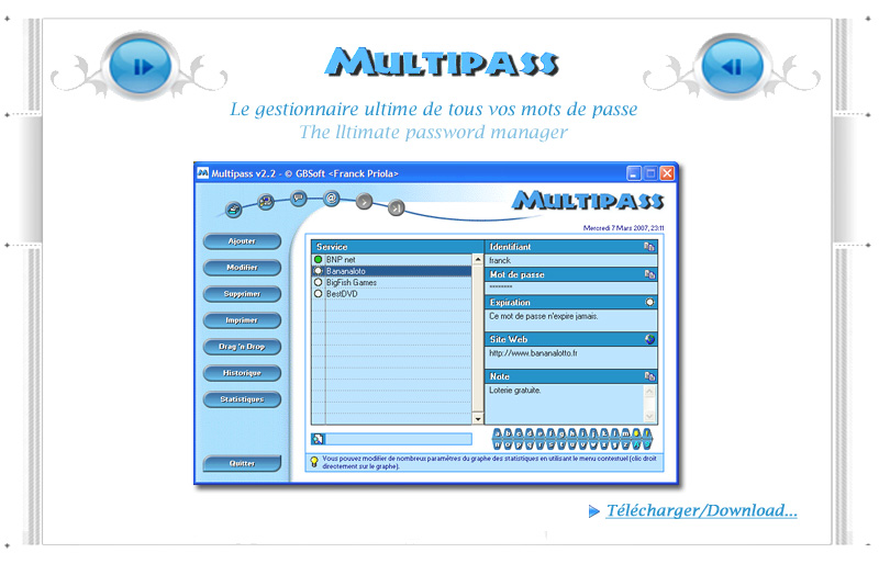 Multipass : The Ultimate Password Manager